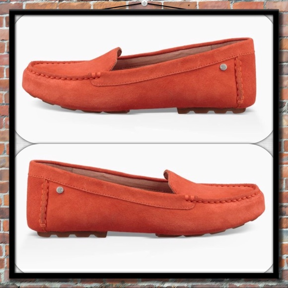 ea36839baf1 UGG Milana Suede Loafer in Red-orange NWT